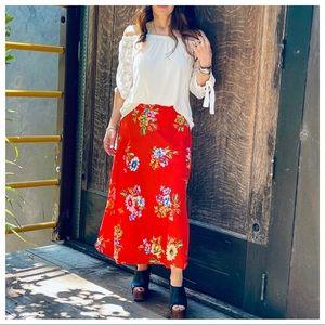 Pretty Pretty Pretty boho Floral print Midi skirt